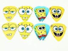 10pcs 0.49mm Spongebob guitar picks Plectrums Printed Both Sides