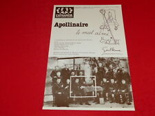 COLL.J. LE BOURHIS AFFICHES Poésie / ATHANOR M. DE MAULNE / APOLLINAIRE 1993