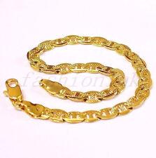 "Men Women Unisex 18K Yellow Gold Plated Birthday Xmas 19cm 7.5 "" Bracelet Gift"