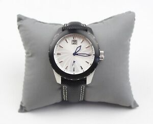 Android AD433 MIYOTA GP10 Black Leather Band With White Stitching
