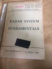 Book RADAR SYSTEM FUNDAMENTALS USGI USAAF WW2 WWII 1944 Rare