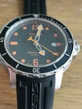 Tissot Seastar Powermatic Automatic Watch, Rare Orange Dial, Full Kit