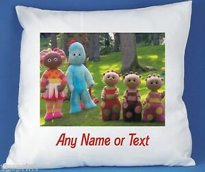 IN THE NIGHT GARDEN PERSONALISED LUXURY SOFT SATIN POLYESTER CUSHION COVER GIFT