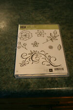 STAMPIN'UP CLING STAMP AND DIE SET FALLING FLOWERS