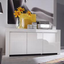 Wohnzimmer Kommode Schrank weiß 195cm