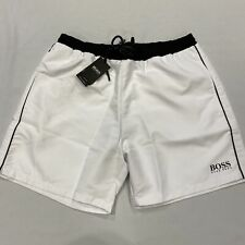 HUGO BOSS Dolphin Swim Shorts White Mens SWize UK M *REF177