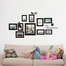Decal Decor Art Photo Frame Set Black Waterproof Removeable Vinyl Wall Stickers