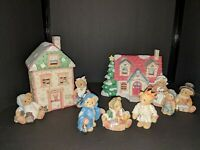 "Cherished Teddies ""A Christmas Carol Series"" Complete Set, 12 pcs, excellent"