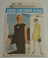 Vogue Couturier Dress Pattern 2130 FEDERICO FORQUET of Italy Sz 12 Cut Complete