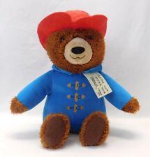"Kohls Cares Paddington Bear Kids Plush Blue Coat Red Hat 14"" Stuffed Animal Toy"