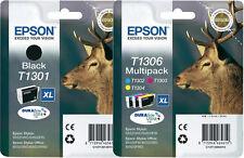 4x original tinta cartuchos Epson bx525wd bx535wd bx625fwd bx630fw bx635fwd t1301