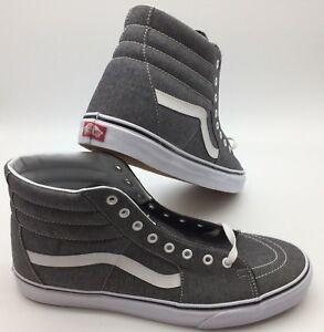 """Vans Men's Shoes """"Sk8-Hi"""" (Micro Herringbone) Blk/TW"""