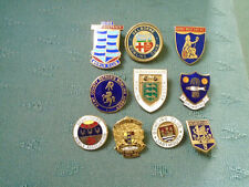 COLLECTION OF 10 DIFFERENT BOWLS BOWLING PIN BADGES - LOT 3