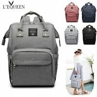 LEQUEEN Diaper Bag Mummy Baby Nappy Useful Large Capacity Backpack Traveling Bag