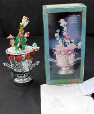 Vintage Original Box ENESCO HOLIDAY on ICE Animated Lighted Music Box #590568