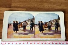 #52 Japanese Army Raw Recruit Dalny Antique 1905 INGERSOLL Colour Stereoview