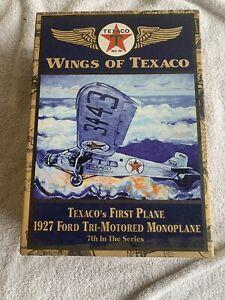 7th in Series TEXACO AIRPLANE BANK - 1927 FORD TRI-MOTORED MONOPLANE #7 SMOKE FR
