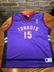 Vince Carter NBA Toronto Raptors Champion Jersey Sz 48