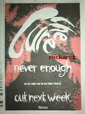 CURE Never Enough 1990  UK Press ADVERT 8x6""