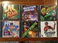 Windows 95/98 CD-ROM PC Vintage Lot of Games - Frogger - Atari - Tiger Woods +
