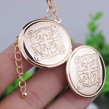 Halskette Gold Medaillon zum öffnen Foto Amulett Talisman Medallion Anhänger Neu