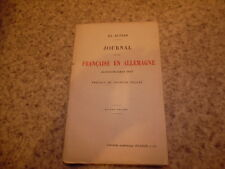1915.Journal d'une française en Allemagne.Guerre 14-18.Altiar