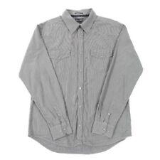 VGC Vintage WRANGLER Grey Black Western Shirt | Slim XL | Cowboy Check Plaid