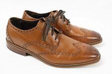 FLORSHEIM Castellano Brown Saddle Tan Leather Lace up Oxford Wingtip Shoe Men 8.