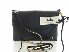 Tula Brand New Smooth Originals Black Leather Party Shoulder Bag RRP £55.00
