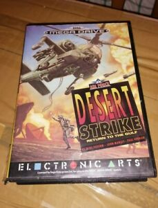 VINTAGE SEGA MEGA DRIVE GAME DESERT STRIKE RETURN TO THE GULF BOXED WITH MAUAL