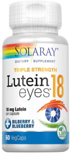 Solaray Triple Strength Lutein Eyes, 18 mg   Eye & 60 Count (Pack of 1)
