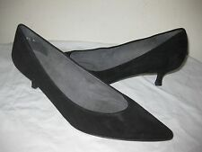 Stuart Weitzman Black Suede Pointy Toe Shoes Women's Size 9.5 M