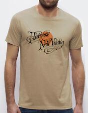 """NEIL YOUNG """"Harvest"""" men`s T-shirt beige S-M-L-XL-2XL-3XL available"""