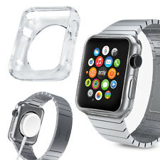 Orzly FlexiCase Faceplate for Apple Watch SERIES 1 Full Protection (42mm) -CLEAR