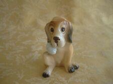 Vintage Japan Porcelain Ceramic Brown Dog Fgurine Wounded Hand