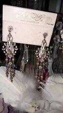Rare Kirks Folly Jewelled Rabbit Bunny Earrings