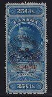 Canada VD #FSC3 (1876) 25c Victoria SUPREME COURT Law Stamp Revenue Used