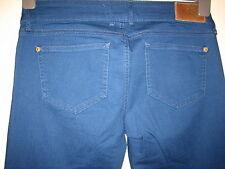 N52) Damen schöne Blue River Island Bootcut Jeans Reißverschluss Größe 12 Bein 30