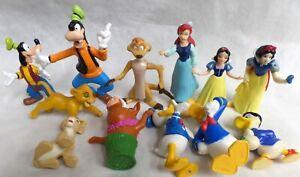 12 Piece DISNEY Group Goofy Donald Snow White Ariel Lions Warthog Scrooge