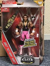 "WWE Elite Series 45 Bret ""Hit Man"" Hart with tag team belt and sunglasses Mattel"