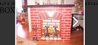Vintage Noma Electric Christmas Fireplace - Fireglow Effect- Cardboard