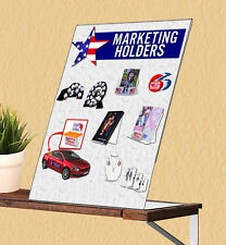 8.5�W x 11�H Slant Back Table Sign Holder Ad Literature Frame Lot of 25