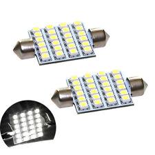 2 ampoules à LED navette 41 /42  mm 24 LED éclairage plafonnier C5W Blanc