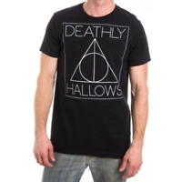 Official Licensed Harry Potter Deathly Hallows Unisex Black T-Shirt