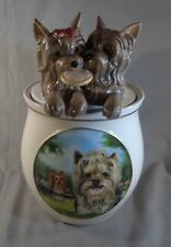 Bradford Exchange Yorkie Dog Cookie Capers Jar Kitchen Decor 2013