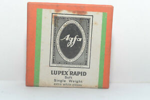 Agfa Lupex Rapid Old Stock Photo Paper 2 1/2 x 2 1/2  100 No Soft Extra Gloss