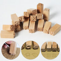 1pc Hand Carved Wooden Stamp For Printing DIY Clay Pottery Tool Printing Blocks
