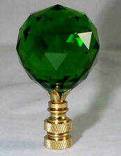 LAMP FINIAL-STUNNING LEADED CRYSTAL LAMP FINIAL-GREEN