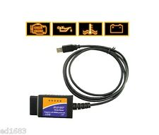 ELM327 USB to OBDII Car Diagnostic Cable for all Models