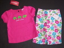 NWT Gymboree Tennis Match 6-12 Months Peek a Boo Turtle Tee Top & Flower Pants